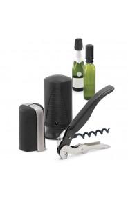 Сет Pulltex за вино и шампанско от 3 части - черен / Set Pulltex Wine&Champagne 3pc black 107781